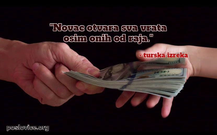 turske poslovice - novac otvara vrata